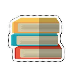 Cartoon stack book school image vector