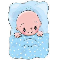 cute cartoon sleeping baby vector image