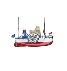 kids toy steamship vector image vector image