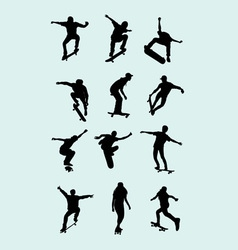 Skateboard Silhouette vector image vector image