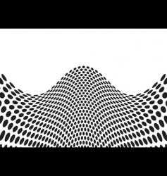 wave bulge black vector image vector image