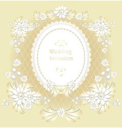 Wedding invitation or congratulation in gold vector image vector image