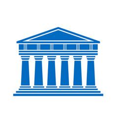 architecture greek temple icon vector image