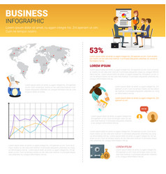 Business infographics set with copy space for vector