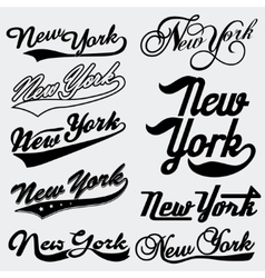 New York typography vector image vector image