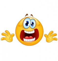 panic emoticon vector image