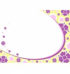 retro floral vector image vector image
