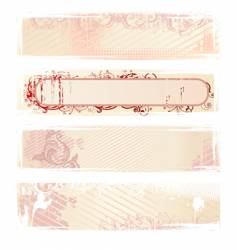 set of pink grunge banners vector image