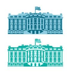 white house america residence of president usa us vector image