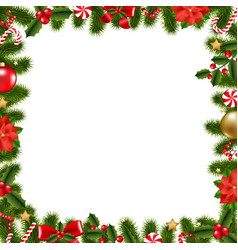 xmas frame vector image vector image