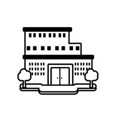 big building style icon vector image vector image