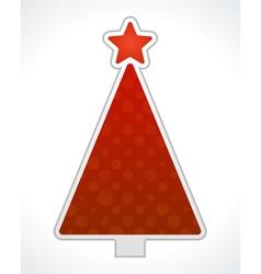Christmas tree label design element vector image vector image