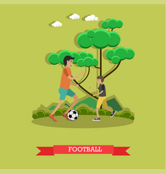 Football concept in flat style vector