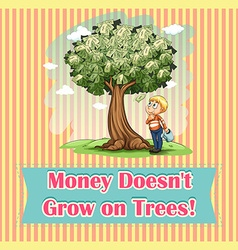 Money on trees idiom vector image vector image