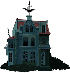 Of a spooky haunted ghost house vector