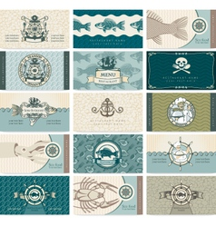 sea cards vector image vector image