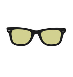 with sun glasses vector image vector image