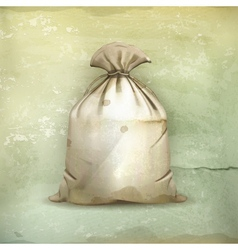 Bag old-style vector image vector image
