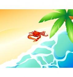crab beach vector image vector image