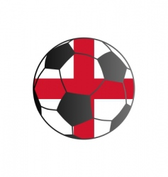 flag of England and soccer ball vector image