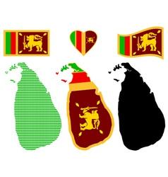Map of the Democratic Socialist Republic of Sri vector image vector image