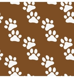 Paw zoo pattern Brown for zoo design vector image