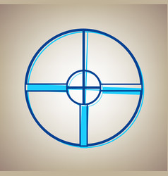 sight sign sky blue icon vector image vector image