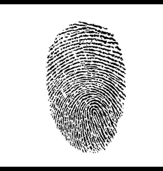 a finger print vector image