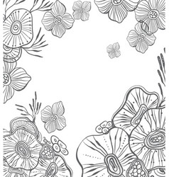 abstract floral ornament element for design vector image