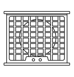 Air conditioner compressor icon outline style vector
