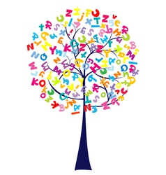 Alphabet tree vector
