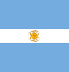 argentina flag icon national vector image