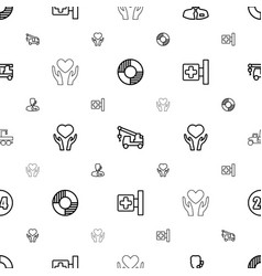 assistance icons pattern seamless white background vector image