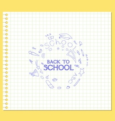 Banner back to school paper vector