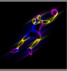 basketball player in a jump vector image
