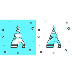 Black line the tsar bell in moscow monument icon vector