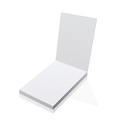 Blank realistic notepad notebook isolated on white vector