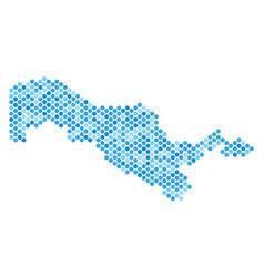 Blue dot uzbekistan map vector