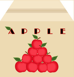 Box of apples vector