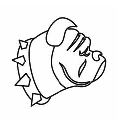 Bulldog dog icon outline style vector