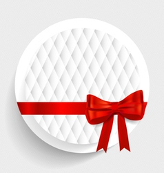 Card note with gift bows vector image