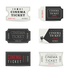 cinema ticket set vector image
