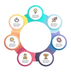 Circular infographics Business diagram with 7 vector