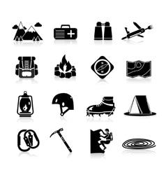 Climbing Icons Black vector