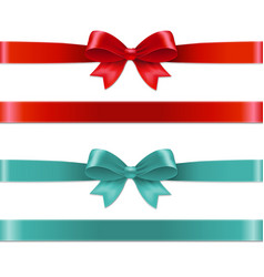 Color bows set vector