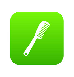 comb icon digital green vector image