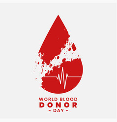 Concept design for world blood donor day vector