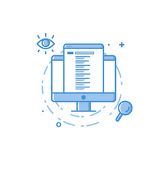design concept seo search results vector image