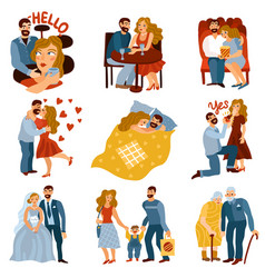 developing relations set vector image