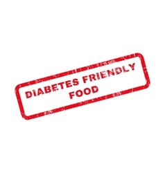 Diabetes Friendly Food Text Rubber Stamp vector
